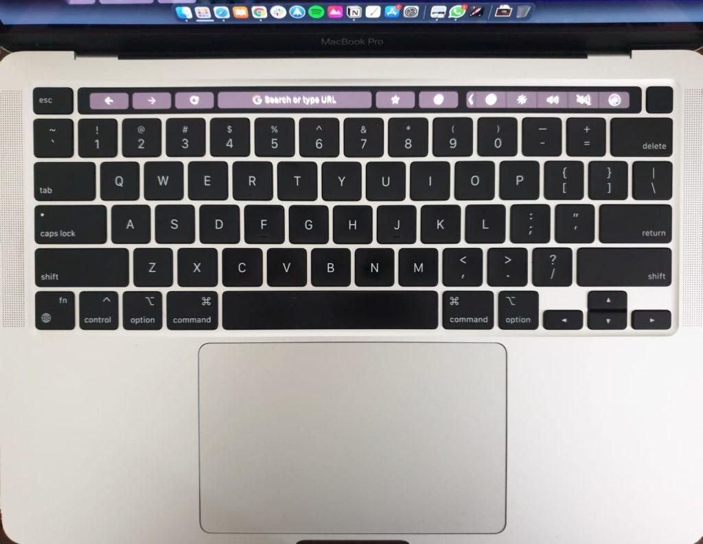 M1 MacBook Pro keyboard