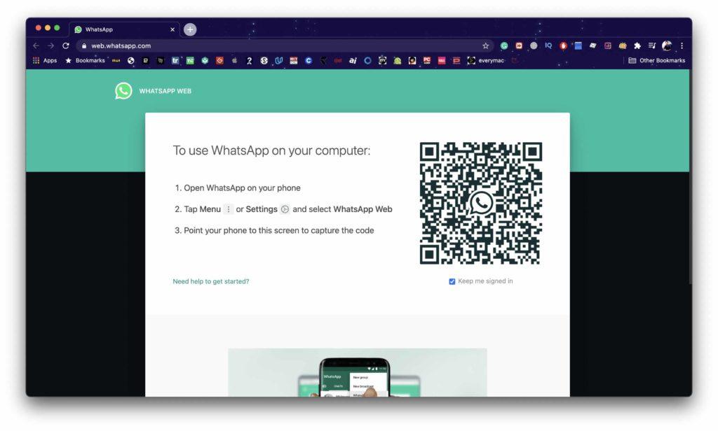 WhatsApp Web on Mac